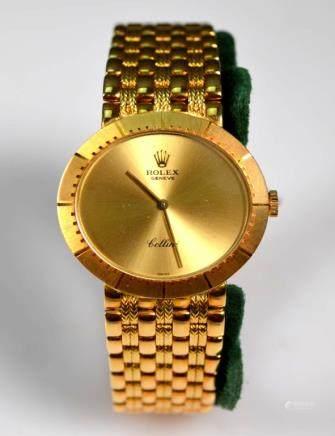 """Rolex Cellini 18K """"750"""" Men's Wristwatch in Box"""
