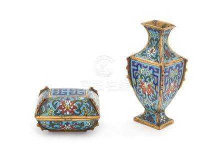 Two Small Cloisonné Enamel Articles