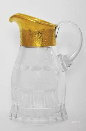 A MOSER CRYSTAL GLASS JUG