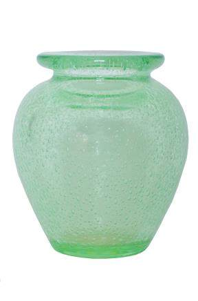 A DAUM NANCY BUBBLE GLASS VASE