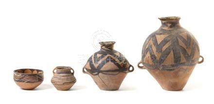 Four Painted Pottery Vessels
