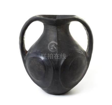 A Black Pottery Vessel