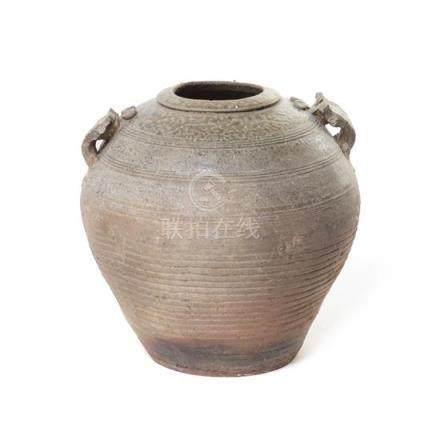 A Yueyao Celadon Glazed Pottery Jar