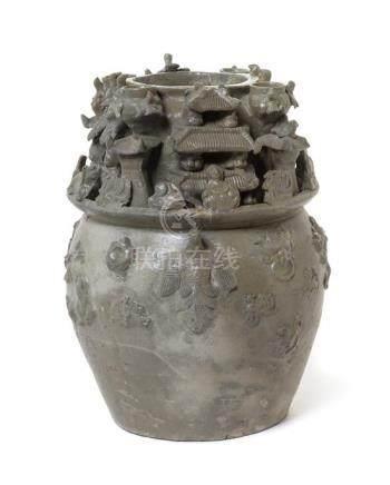 A Yueyao Celadon Glazed Pottery