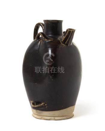 A Black Glazed Pottery Ewer