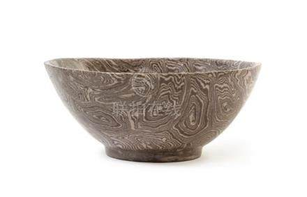 A Marbled Pottery Bowl