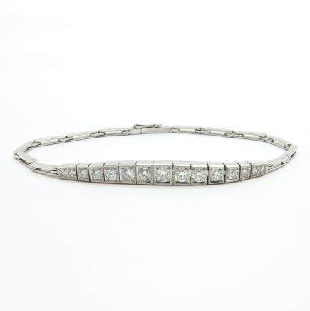 14KWG Diamond Bracelet