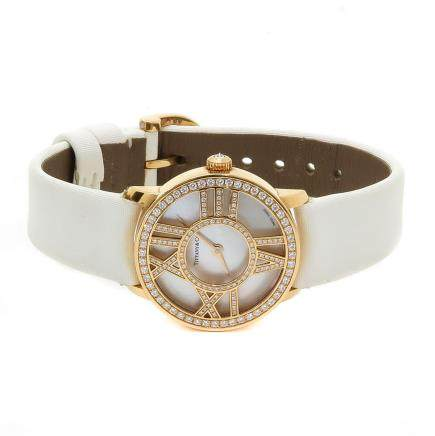 18KG Ladies Tiffany Cocktail Watch 0.70CTW Diamonds