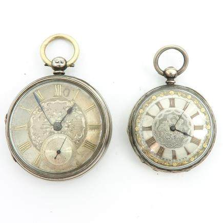Lot of 2 Silver Pocket Watches