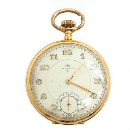 14KG Mens Chronograph Pocket Watch