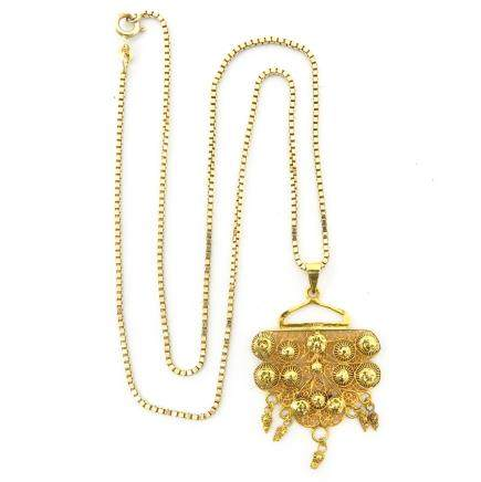 14KG Necklace with Pendant