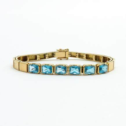 9KG Bracelet Set with Topaz
