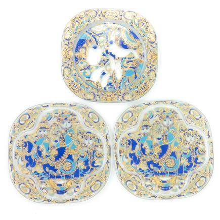 Lot of 3 Rosenthal Bjorn Winkled Plates