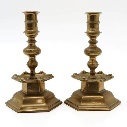Pair of Late 17th Century Candlesticks