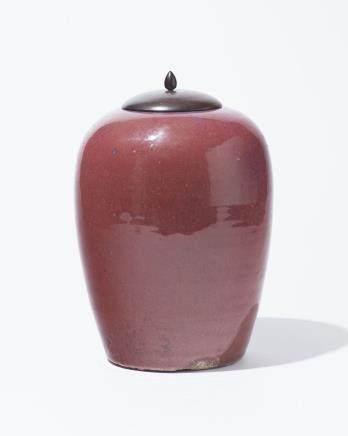 Pot à gingembre, Chine, époque Daoguang (1821-1850), Porcelaine sang de boeuf, H 30 cm