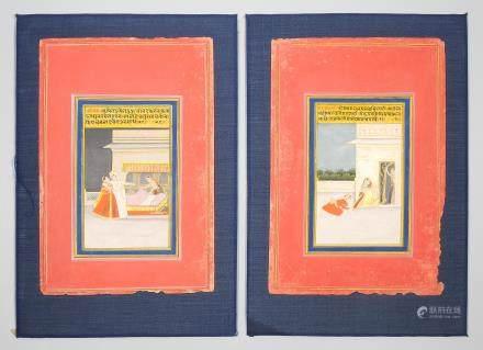 Lot: 4 Miniaturmalereien