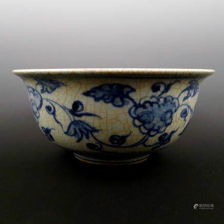 Ming Dynasty, blue and white porcelain bowl