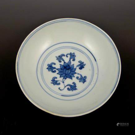 Ming Dynasty Wanli blue and white plate