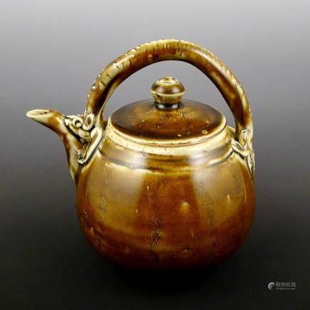Song Dynasty Jizhou kiln yellow Glaze Pot