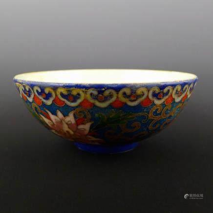 Qing porcelain imitation copper enamel color bowl