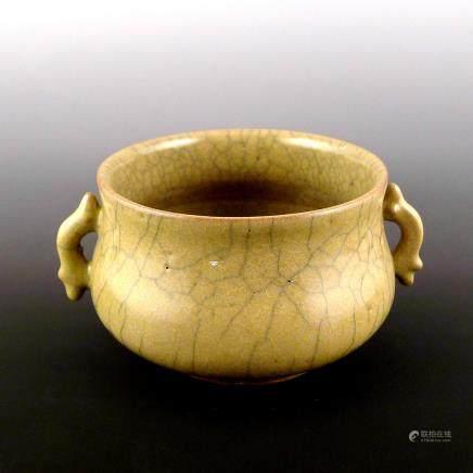 Yuan Dynasty Ge kiln ear Furnace