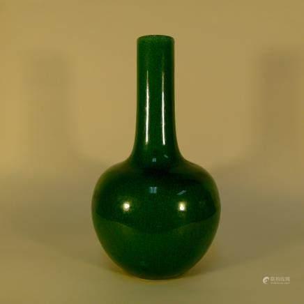 Chinese Jun Kiln Glaze in Green Porcelain Vase
