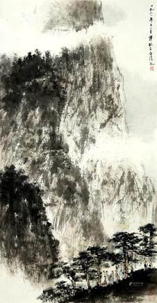 傅抱石 中國水墨畫 山水人物(捲軸)
