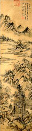 QIANLONG, QING DYNASTY, CHINESE INK AND COLOR PAINTING