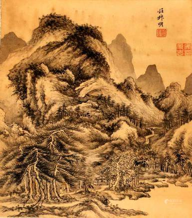 Jian Wang, A VINTAGE CHINESE INK AND COLOR PAINTING