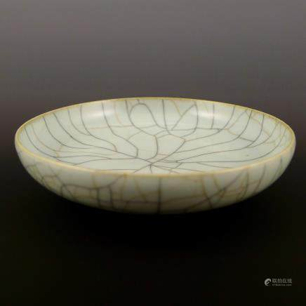 Qing Dynasty's imitation to Song Dynasty's Kiln Plate