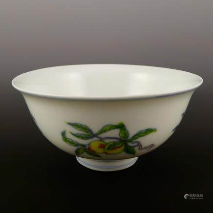 Qing Dynasty Jiaqing bucket small bowl