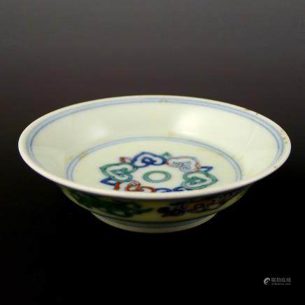 Qing Dynasty Imitation of Ming Dynasty Doucai Plate