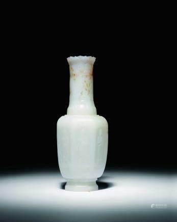 清 白玉佛教題材淨水瓶
