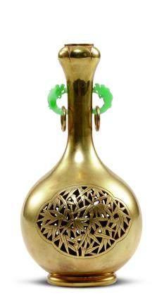牡丹紋金瓶