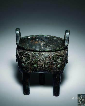 商 青銅饕餮紋三足鼎