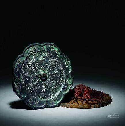 唐 青銅寶相菱花鏡