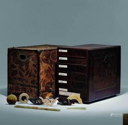 商-漢 古代玉珍萃收藏盒 六層共二十三件