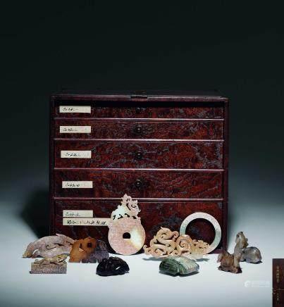 商-漢 古代玉珍萃收藏盒 五層共二十件