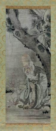明代 佚名 壽老圖
