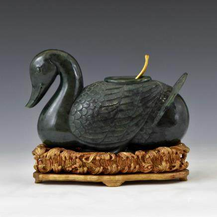 CHINESE GREEN SPINACH JADE OF DUCK