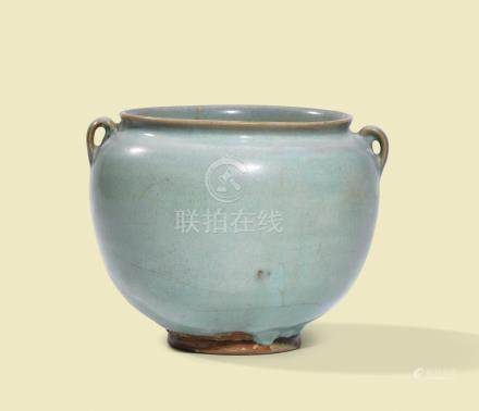 A JUN TWIN-HANDLED JAR