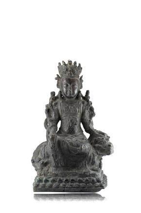 明末 十七世紀 銅雕觀音像