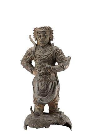 明末 十七世紀 銅雕戰士立像