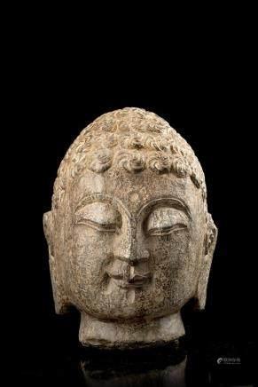 中國 佛首雕像