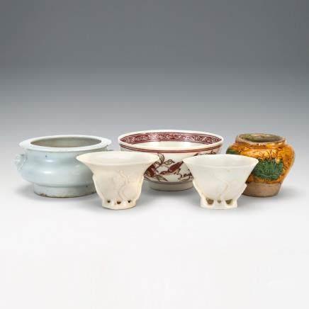 德化窯杯、其他 5件