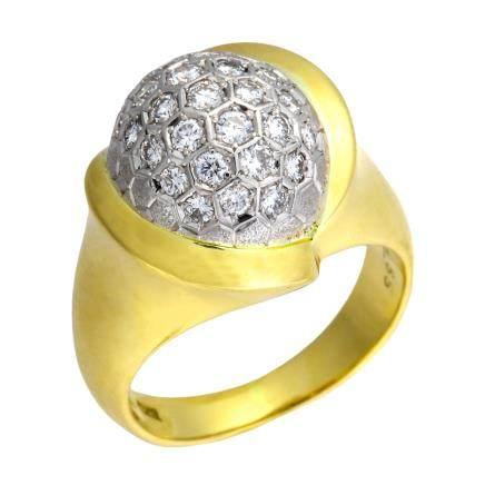 0.55 ct 鑽石 鉑金 黃金戒指