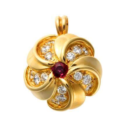 蒂芙尼 鑽石 黃金吊墜