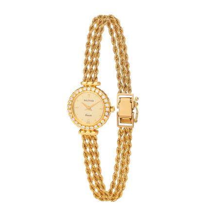 沃爾瑟姆 鑽石 黃金腕錶