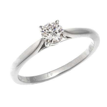 卡地亞 0.25 ct 鑽石 鉑金戒指