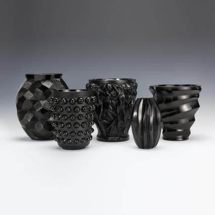 勒内社 黑色系列花瓶「酒神巴克斯之女祭司」及其他 5件